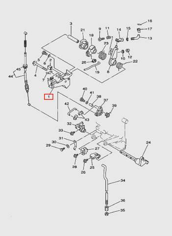 Кронштейн троса газа  для лодочного мотора T15, OTH 9,9 SEA-PRO (12-1)