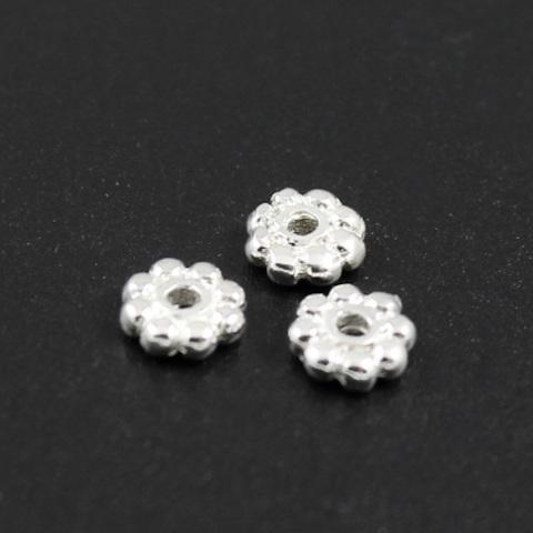 Рондель разделитель 5,7 х 1,6 мм серебро 925