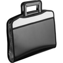 Папка портфель Attache черный серая вставка с выдв ручками