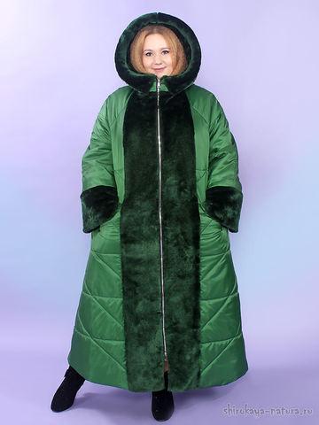 Зимнее пальто Тайра зеленый