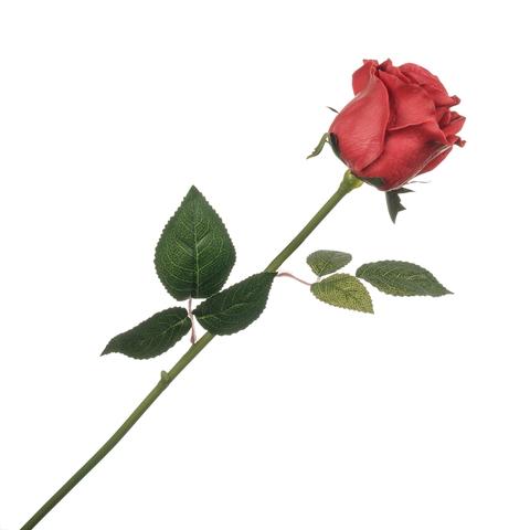 Роза красная с силиконовым покрытием 58 см