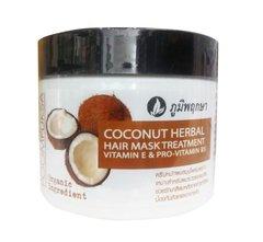 Кокосовая лечебная маска для волос с витамином Е Poompuksa