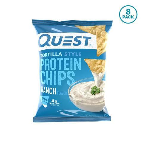 Quest Nutrition Protein Chips Ranch Tortilla Style (8шт) 256гр Протеиновые Чипсы Тортилья с соусом Ранч
