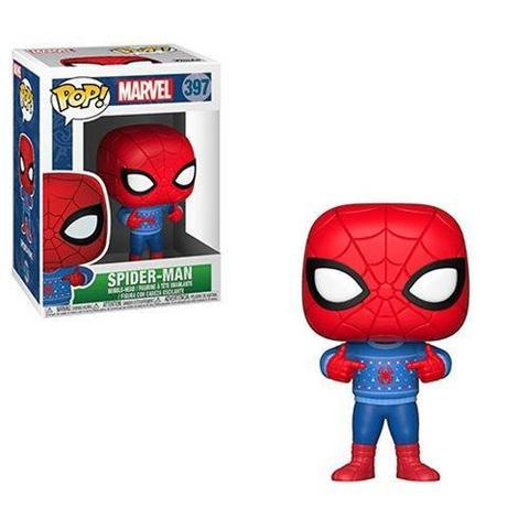 Funko Bobble: Marvel:Holiday: Spider-Man in Ugly Sweater