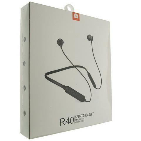 Наушники вакуумные Bluetooth WUW R40 ободок, black