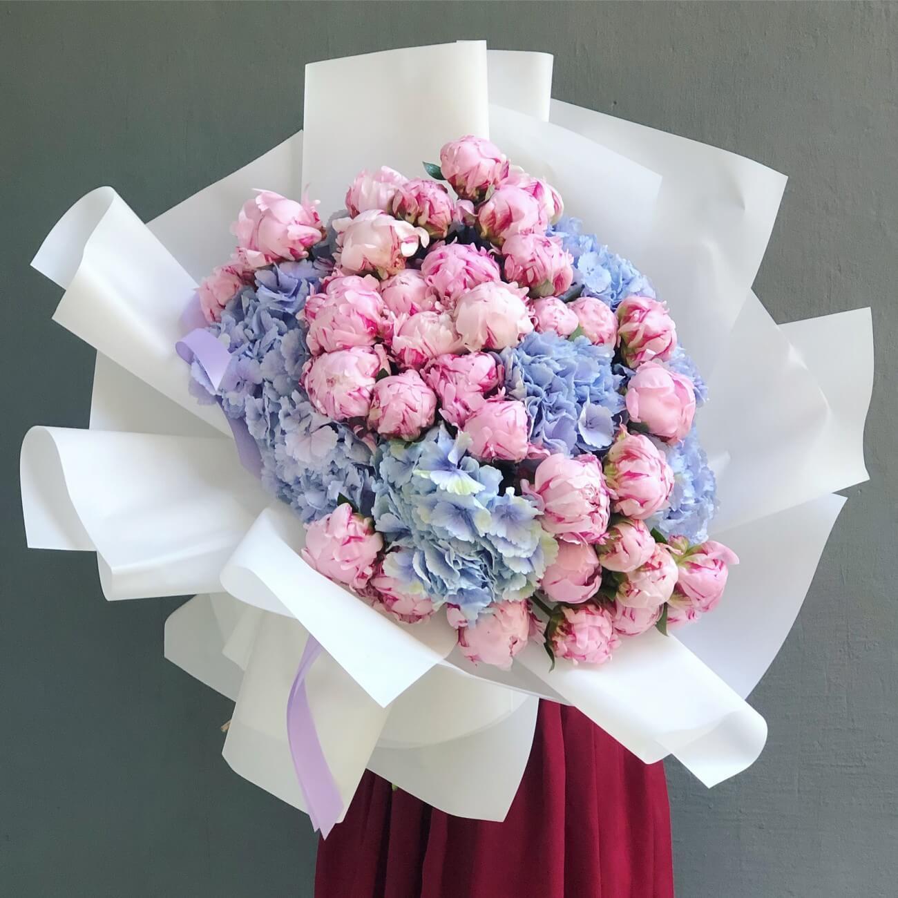 Букет из 33 пионов купить киев, мимозы букеты роз
