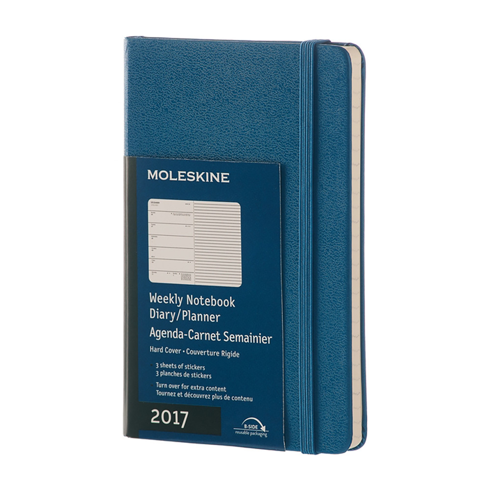 Еженедельник Moleskine Classic Wknt Large, цвет синий