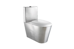 Туалет из нержавеющей стали со сливным баком Nofer 13016.B фото