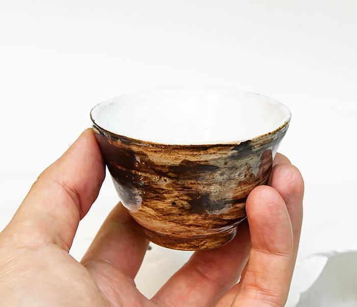 CUP105 Глиняная пиала для чая ручной работы (70 мл) фото 06