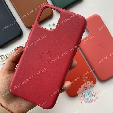 Чехол iPhone 11 Leather Case /pink fuchsia/