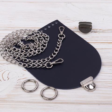 """Комплект для сумочки Орео """"Ночное небо"""" с цепочкой"""