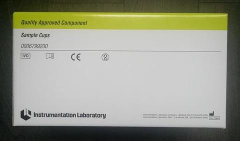IL6799200 (0006799200) Чашечки для образцов 0.5 мл (1000шт/уп), 1000 Число тестов 1000 Инструментэйшн Лаборатори Ко., США/Instrumentation Laboratory Со., USA