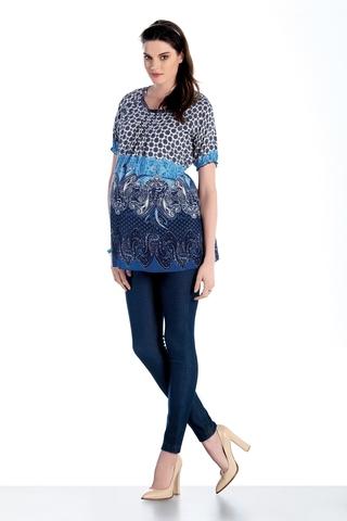 Блузка для беременных 07455 синий