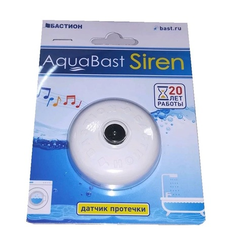 Автономный датчик протечки воды с сиреной AquaBast Siren