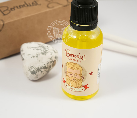 RAZ194-2 Улучшенное классическое масло для бороды «Borodist Classic +» с витаминами (30 мл)