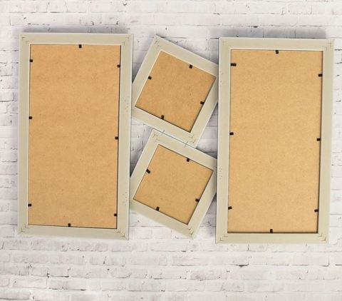 Фоторамка на 2 фото 10х10 см с доской для рисования и для записок