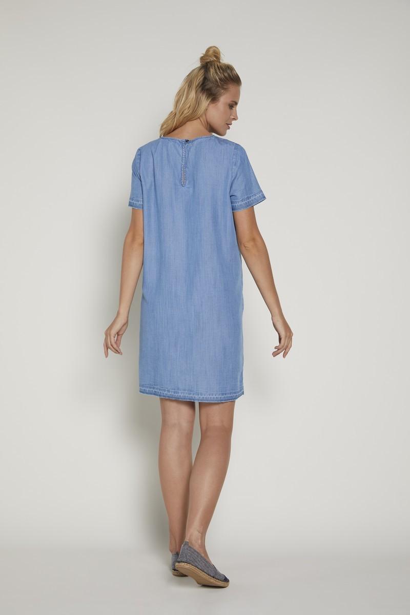 Платье для беременных 09374 голубой