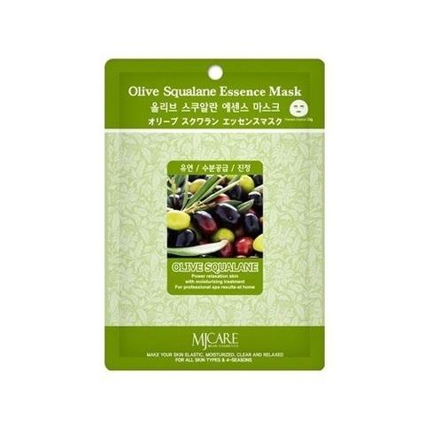 Маска тканевая олива MIJIN Cosmetic Essence Olive Squalane Essence Mask