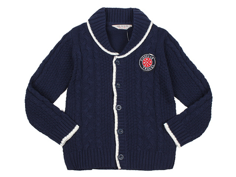 BSW000636 пиджак детский, темно-синий