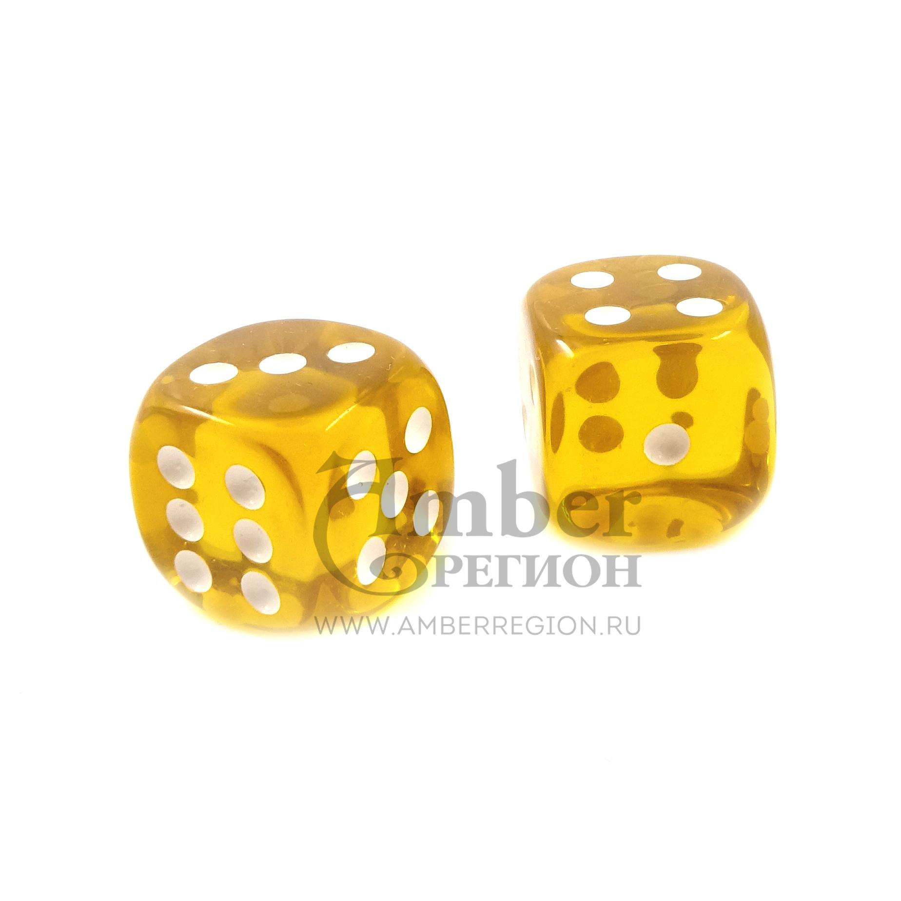 Янтарный кубик (Прозрачный медовый)