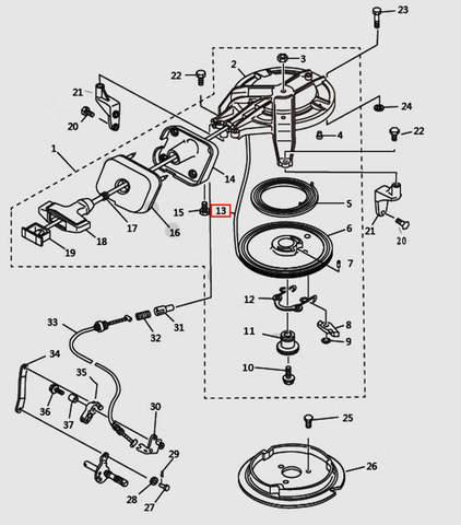 Шнур стартера L1650 для лодочного мотора T9.8 Sea-PRO (7-13)