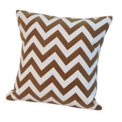 Элитная подушка декоративная Chevron коричневая от Casual Avenue