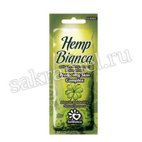 Крем SolBianca\ Hemp Bianca с маслом семян конопли и экстрактом алоэ и бронзаторами 15 мл