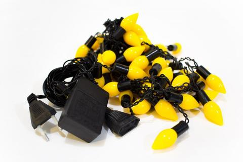 LED светодиодная гирлянда бахрома шарики овальные