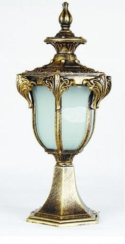 Светильник садово-парковый, 60W 230V E27 IP44 черное золото, PL4043 (Feron)
