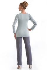Мятная пижама женская из вискозы