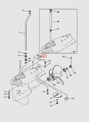 Уплотнитель для лодочного мотора T40 Sea-PRO (24-7)