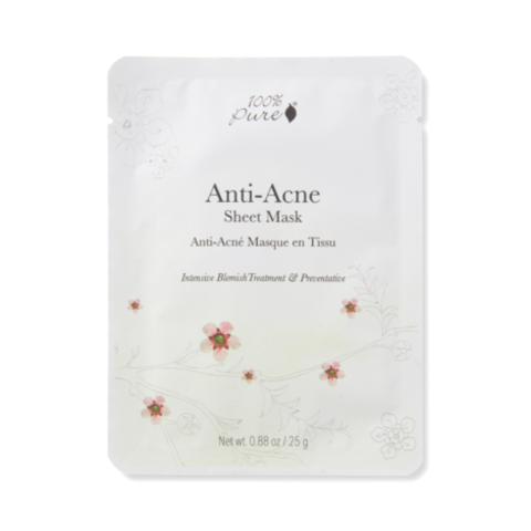 100% Pure. Набор масок для лица, Анти-Акне  (5шт.)