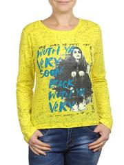 6021-3 кофта женская, желтая
