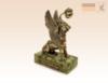 фигурка Грифон с фонарем 5,5 см. (рельеф) на змеевике