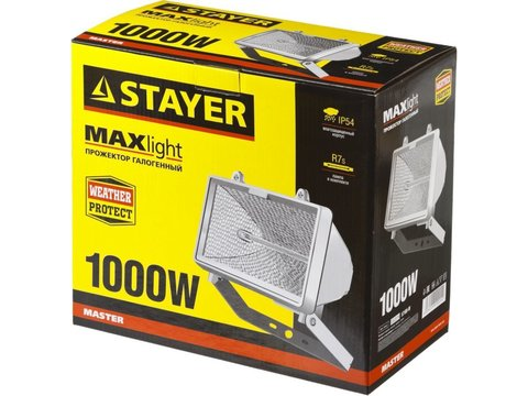 STAYER MAXLight прожектор  1000 Вт галогенный, белый