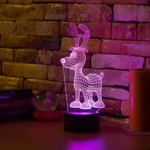 3D светильник Олененок