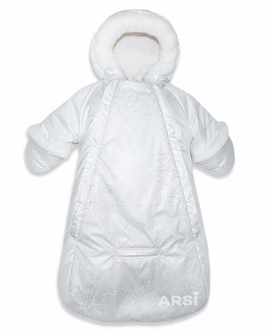 ARSI Комбинезон-мешок Метелица на овчине молочный