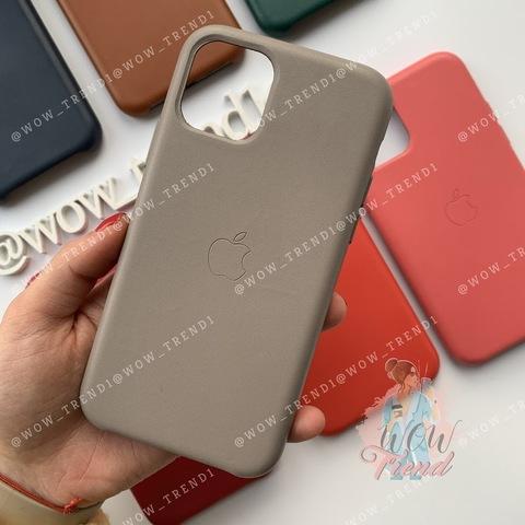Чехол iPhone 11 Leather Case /taupe/
