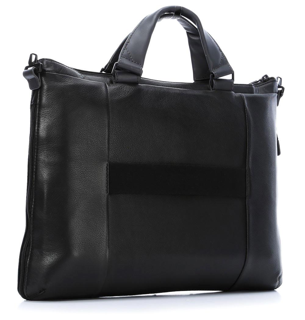 Сумка Piquadro Pulse, цвет черный, 30х41,5х6 см (CA1618P15/N)
