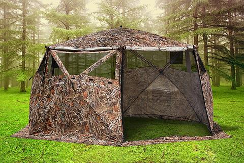 Шатер шестигранной формы Higashi Yurta Сamp Camo для охотников.