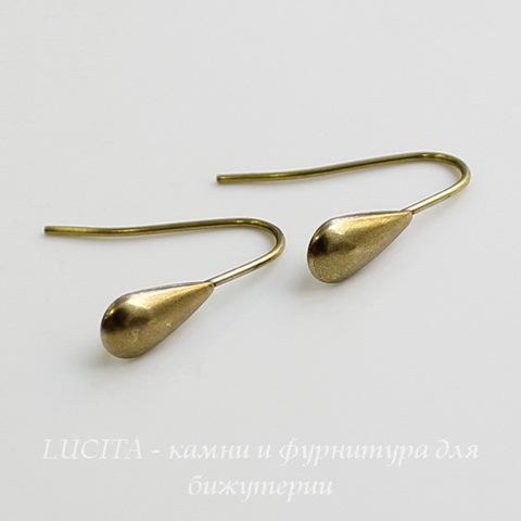 "Винтажные швензы крючки ""Капелька"" 16 мм (оксид латуни) ()"