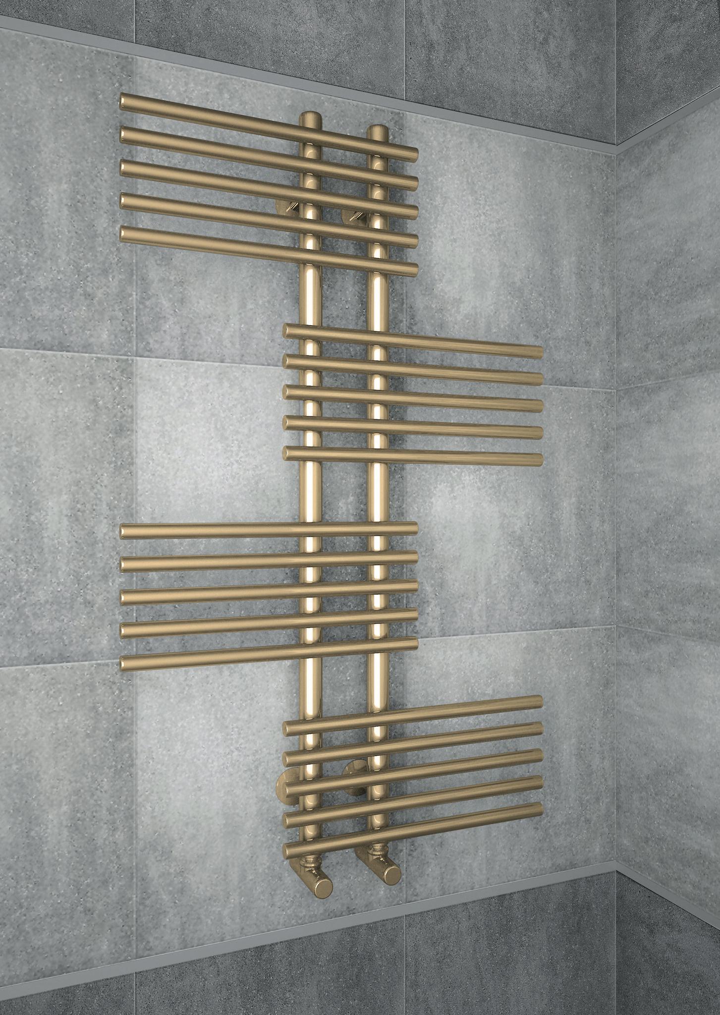 Europa Bronze - бронзовый дизайн-полотенцесушитель оригинальной формы. Бронза.