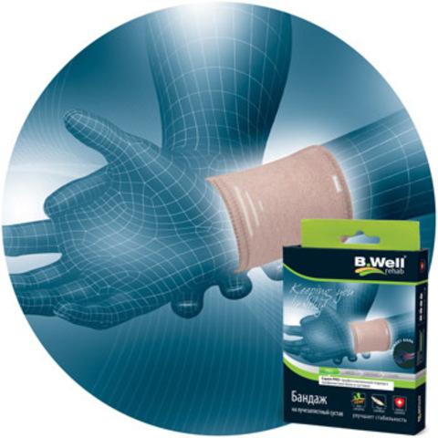 Бандаж на лучезапястный сустав, из материала с кристалами Биокерамики (не менее 40%) и специальной вязанной вставкой.