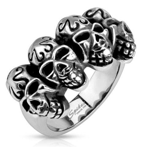Кольцо мужское с черепами SPIKES R-Q9411
