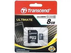 Карта памяти Micro SecureDigital 8 Gb Transcend Класс 10