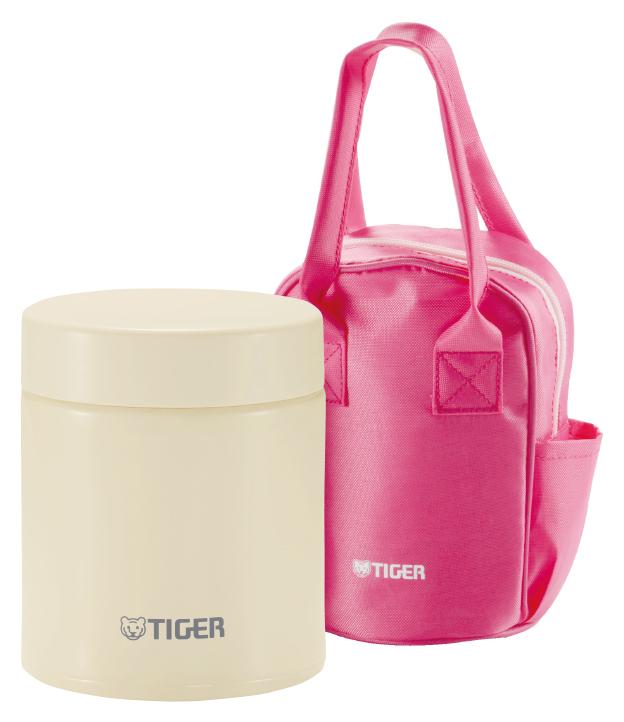 Термос для едыTiger MCJ-A050 Cauliflower (0,5 л) в сумке, бежевый