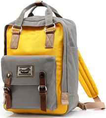 Рюкзак Nikki Macaroon Серый + Желтый