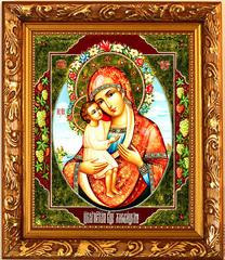 Жировицкая икона Божией Матери на холсте.