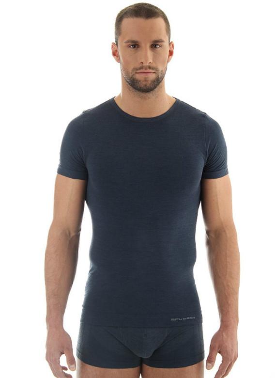 Мужская термофутболка Brubeck Comfort Wool (SS11290) темно-серая