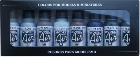 Model Air Metallic Colors (8) 17 ml.